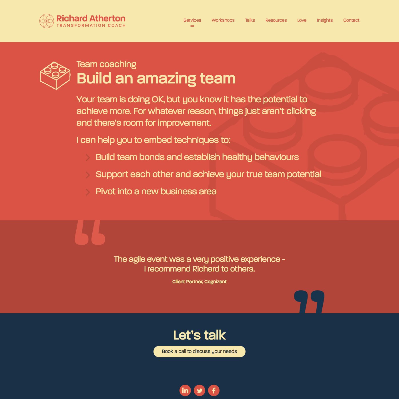 Services team page