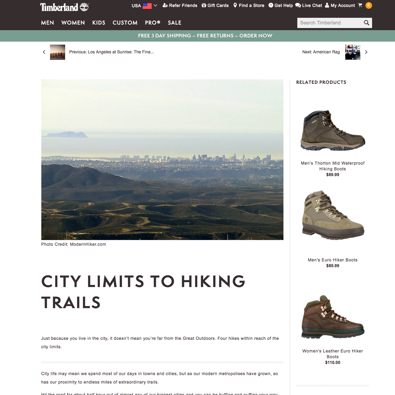 City Limits to Hiking Trails