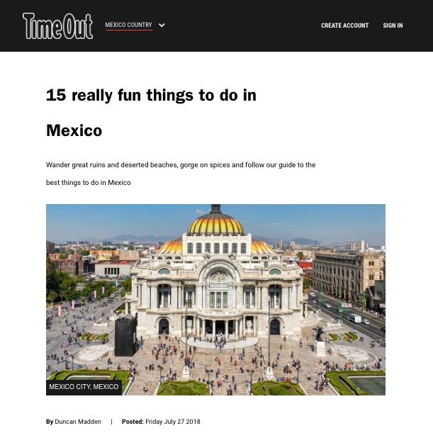 15 things to do in Mexico | Time Out