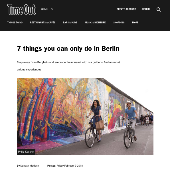 Seven things to do in Berlin | Time Out