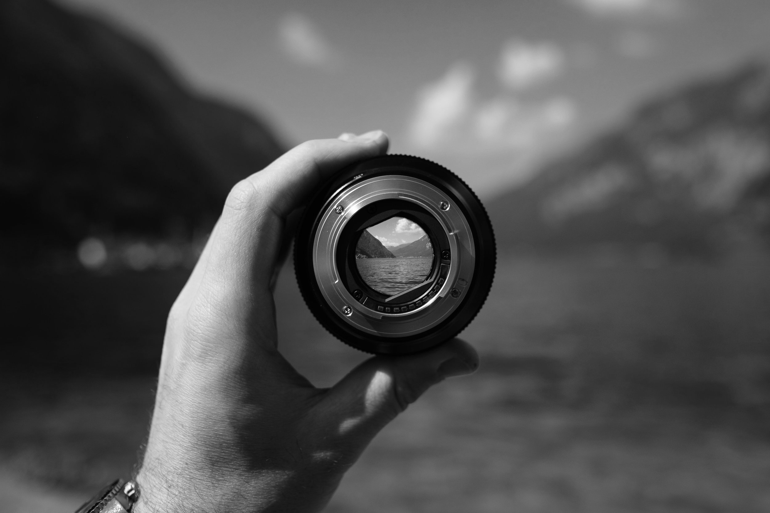 Camera lens - accompanies articles about presence in coaching