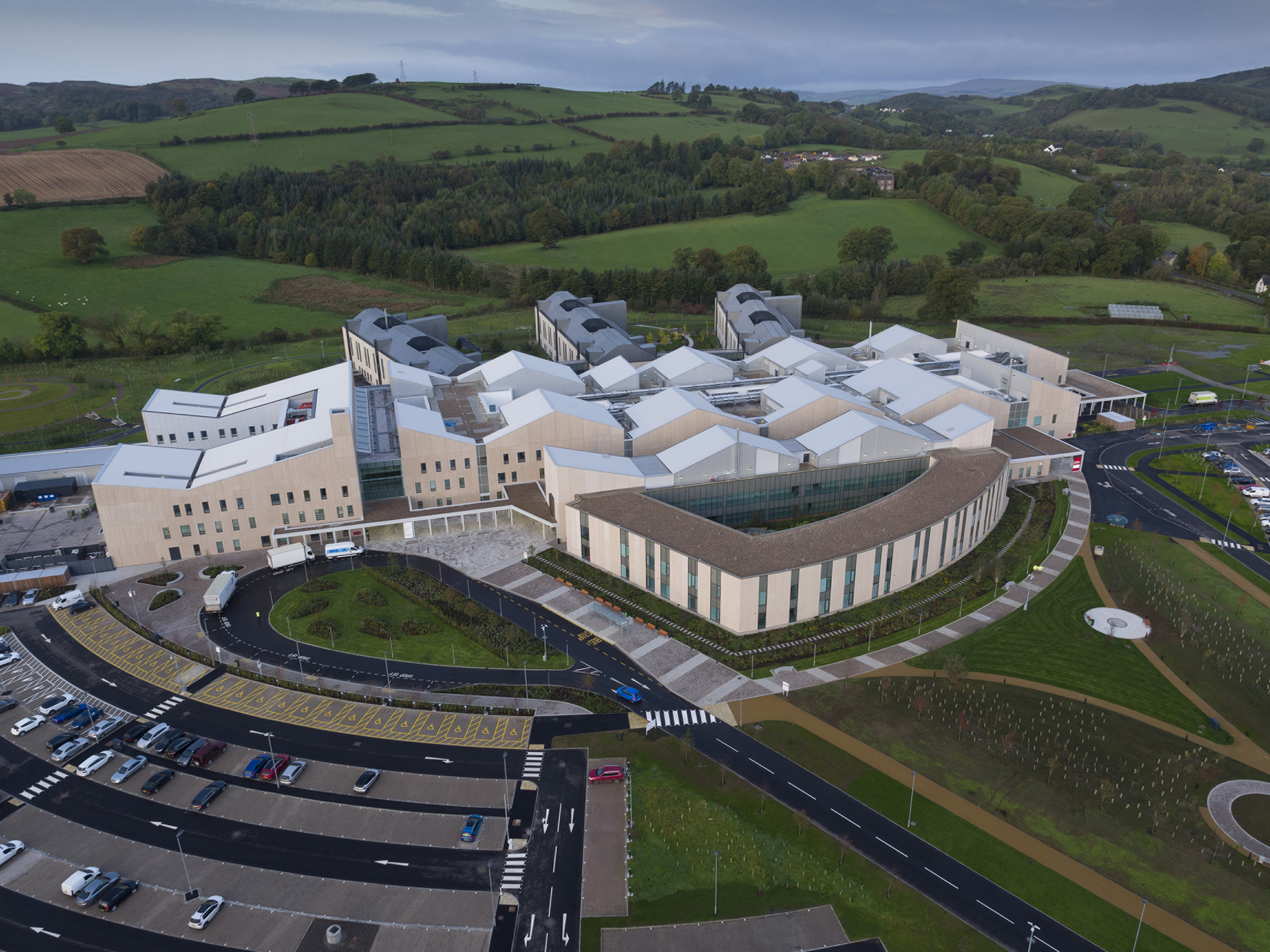 Dumfries & Galloway Royal Infirmary - Aerial View