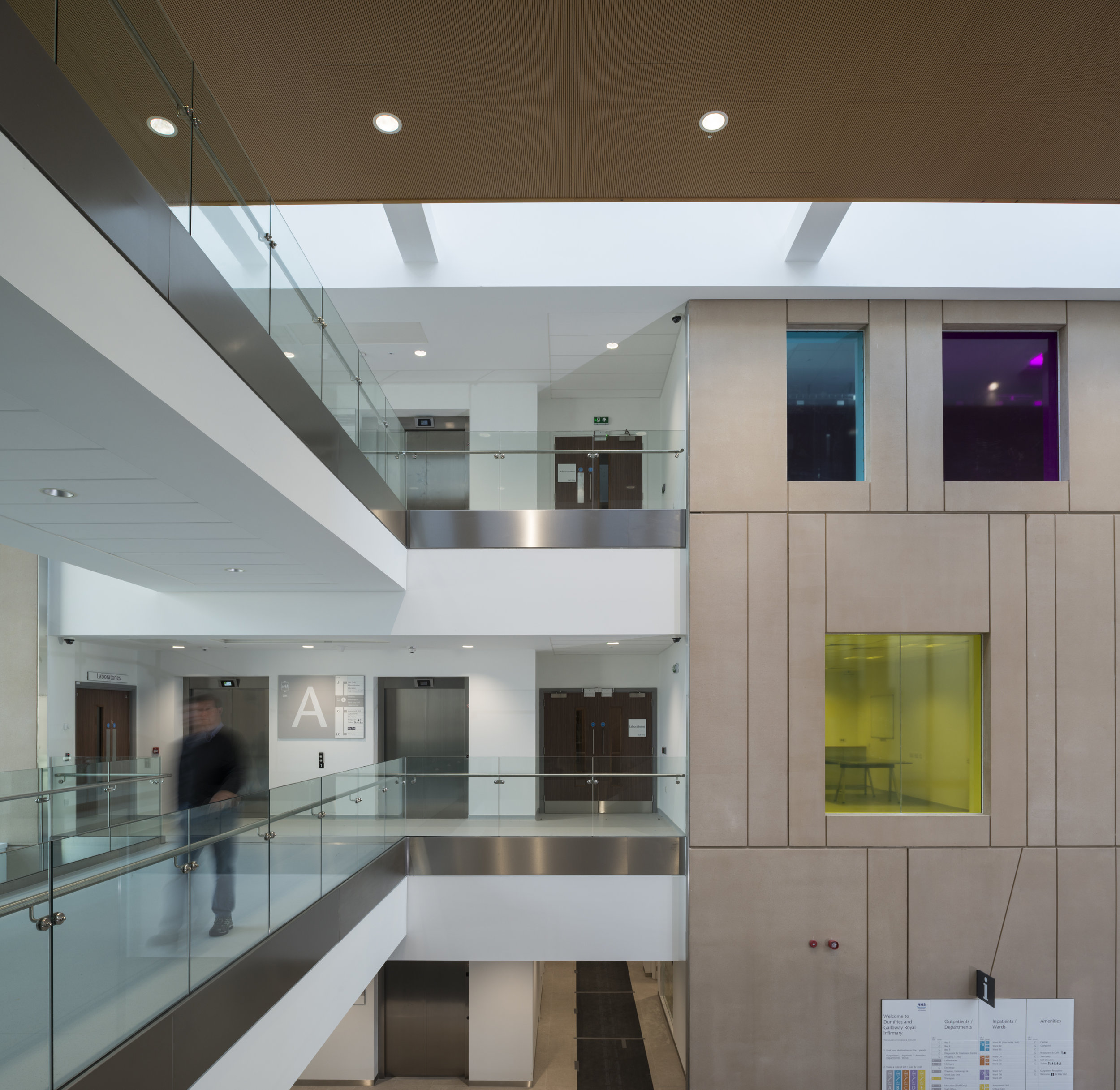 Dumfries & Galloway Royal Infirmary.  Commissioned by NBBJ Architects