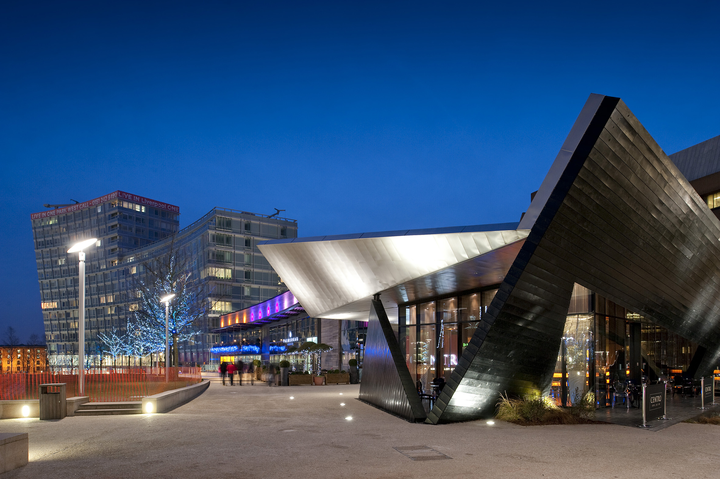 Pavilion at Liverpool One  Commissioned by Studio 3 Architects