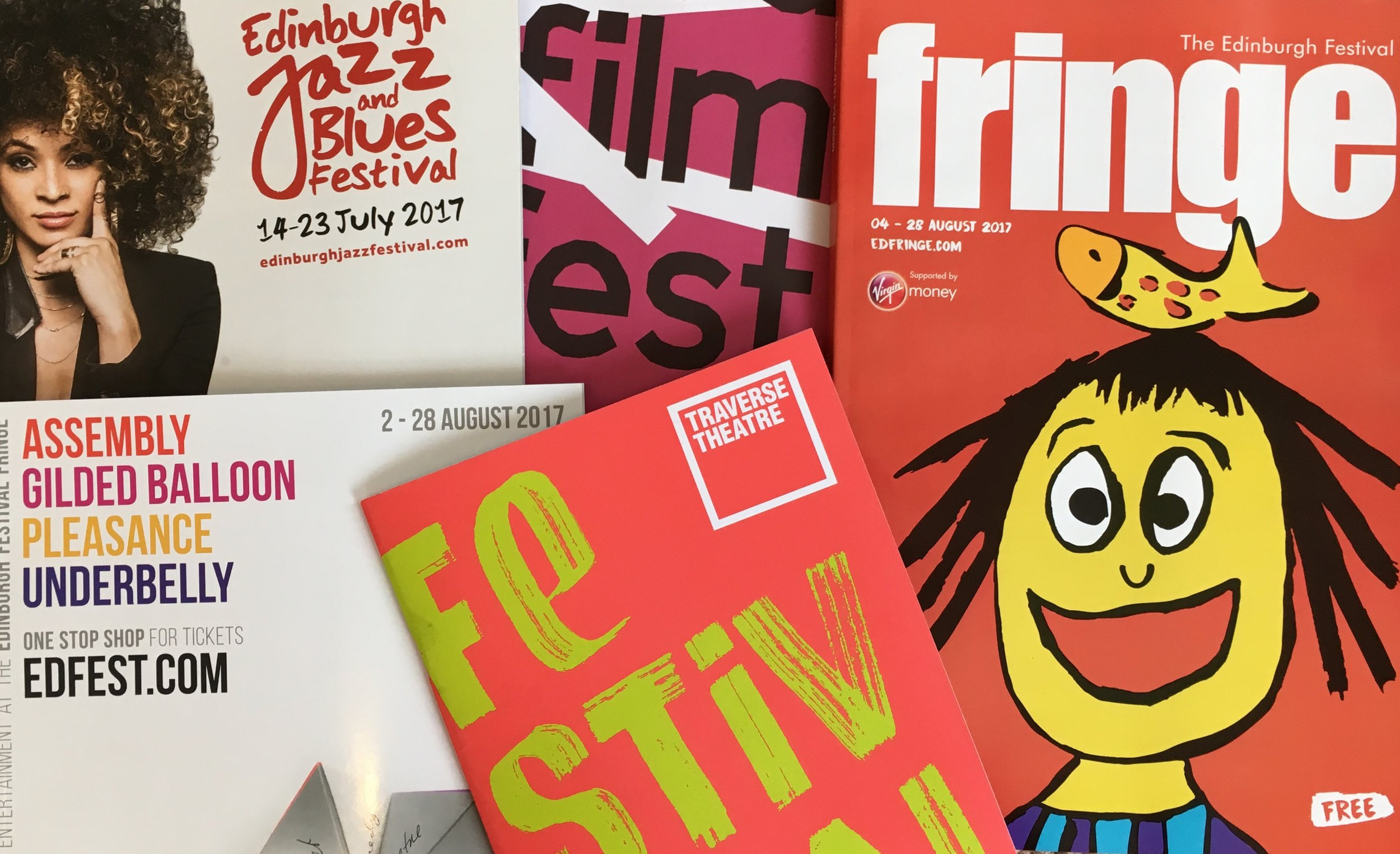 Edinburgh festival brochures