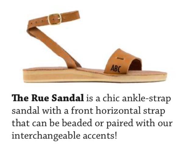 Custom Rue Sandals - AVAILABLE IN SIZES 5-11.BASE PRICE STARTING AT $69.99