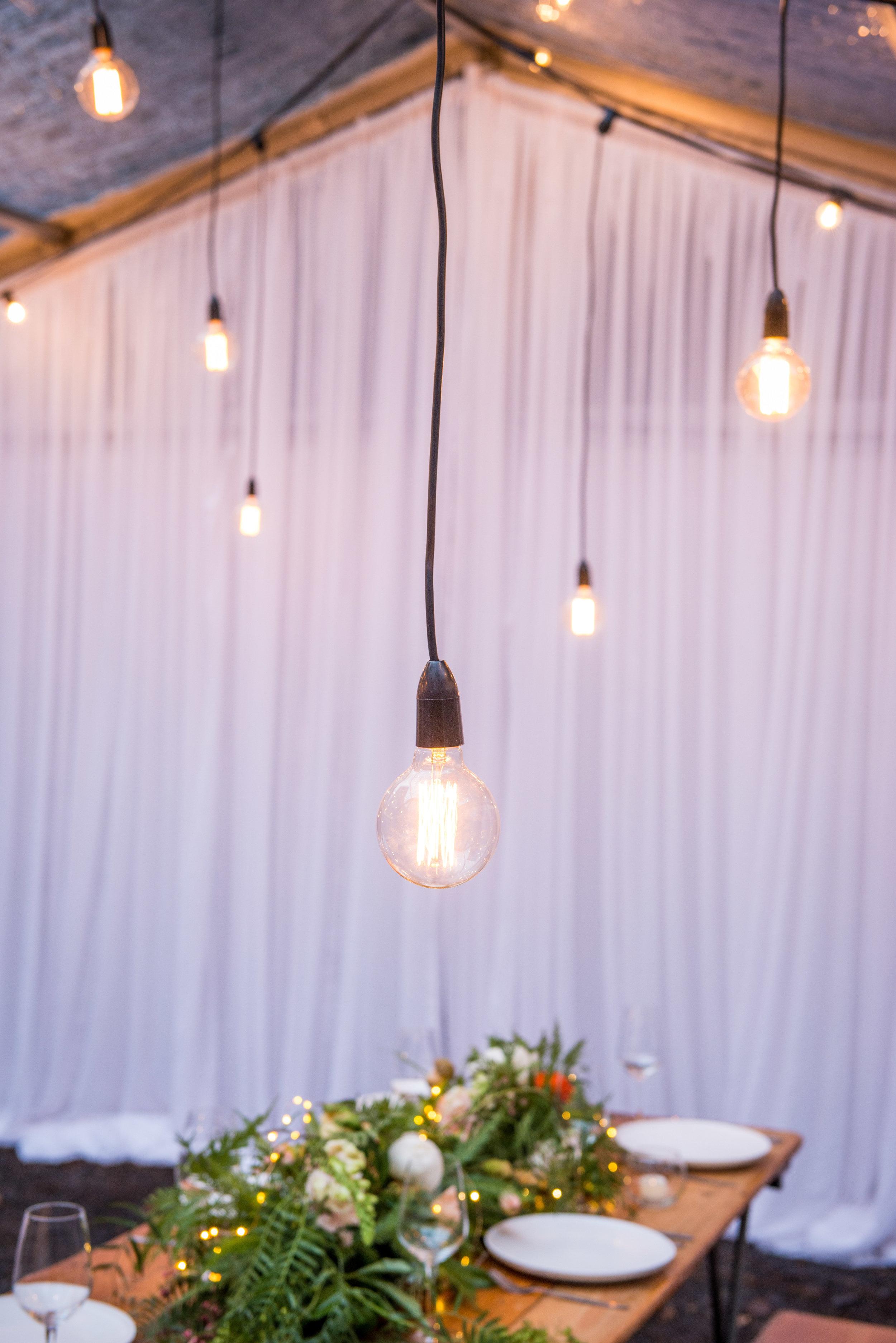 SEEN HERE   Pendant Globe Drop Canopy  Bridal Backdrop