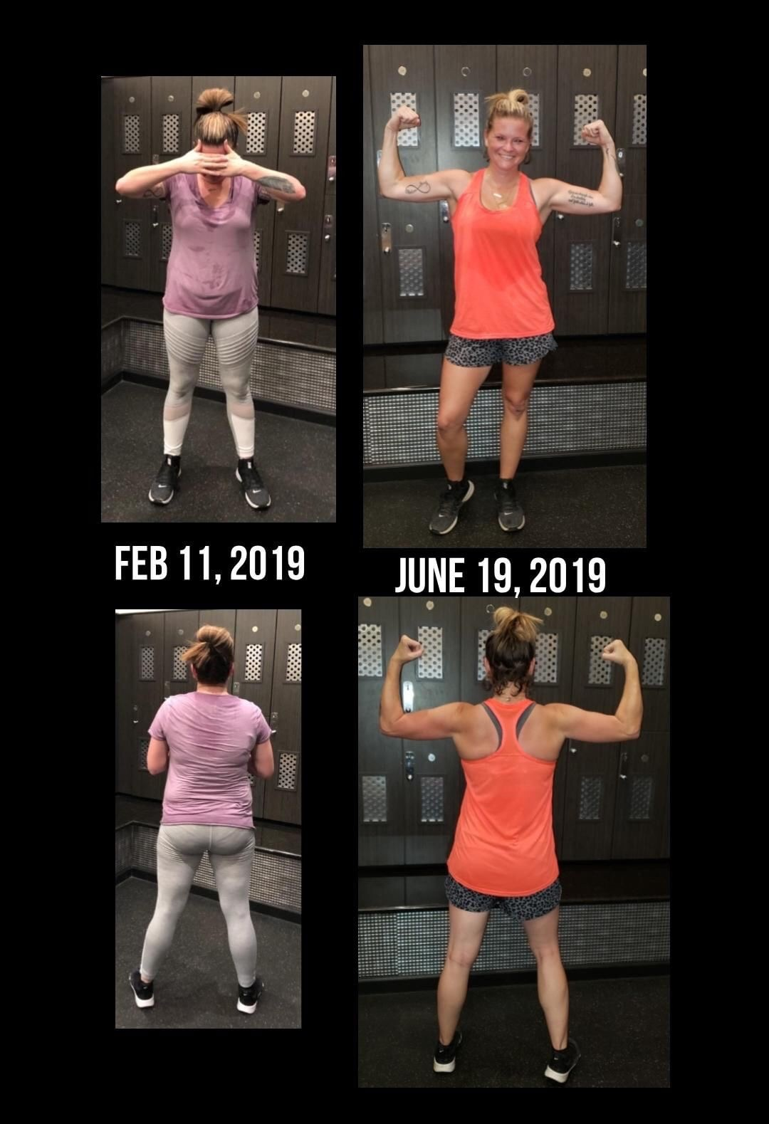 "Tiffany P. - ""I am a mom of 3 Kids. Before TFC I was tired, crabby, and very unhappy with my appearance. The FITT Cycle has given me my confidence back, I'm not tired anymore, and I'm just all around happier! My favorite day is leg day and I love the diversity of The FITT Cycle and all the amazing women and their support"""