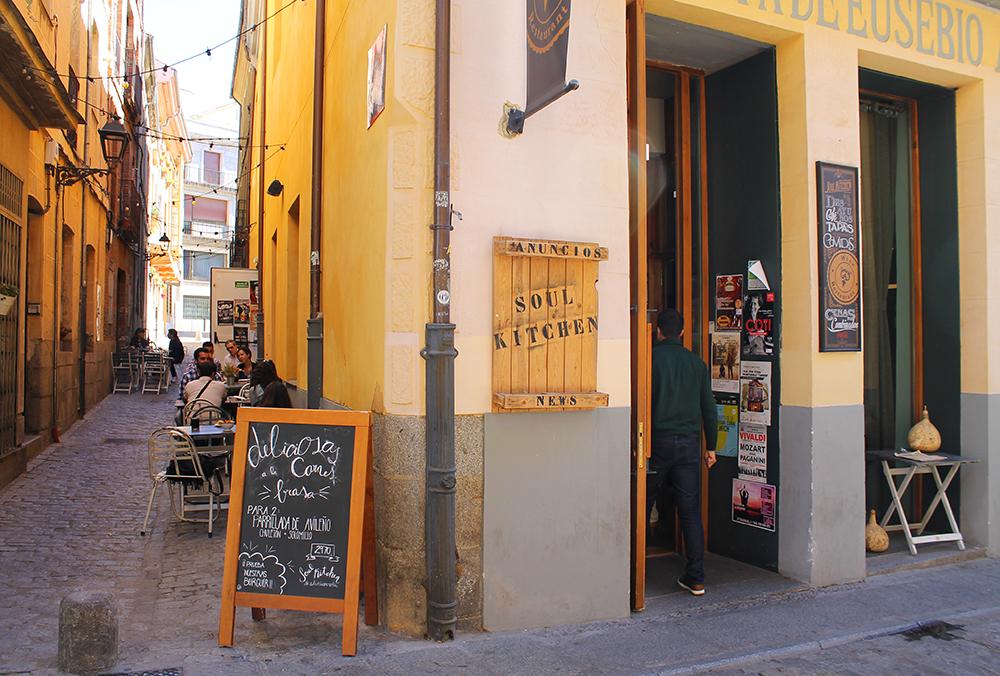 SOUL KITCHEN: Trendy restaurant i Ávila. Foto: Tenk Koffert