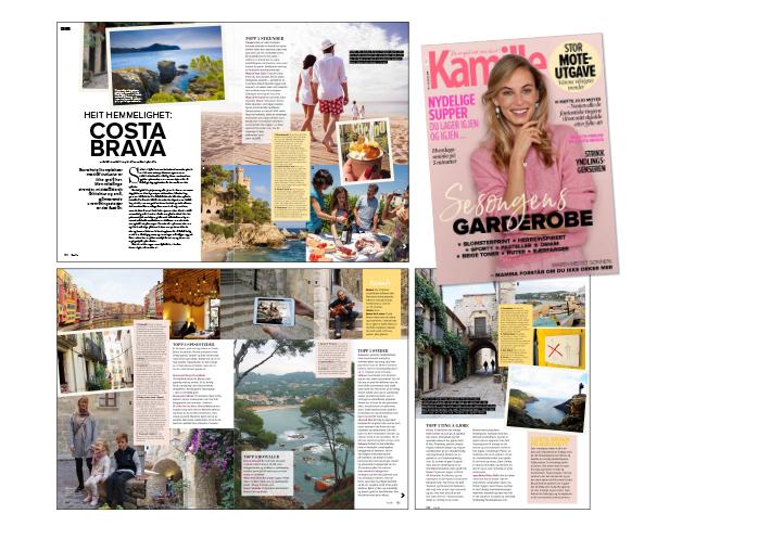 Kamille nr. 8 2018 - I utgave nr. 3 2018 av bladet Kamillesom var i butikkhyllene i februar 2018 hadde jeg en reportasje om Costa Brava på trykk. Noe av den teksten er gjengitt herog her.