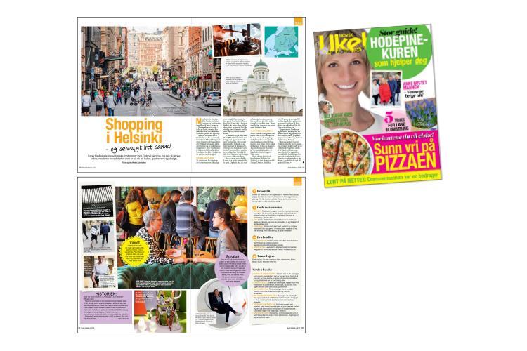 Norsk Ukeblad nr. 8 2018 - I utgave nr. 8 - 2018 av Norsk Ukeblad,som var i butikkhyllene i februar 2018 hadde jeg en reportasje om Helsinki på trykk. Deler av den teksten er gjengitt her.