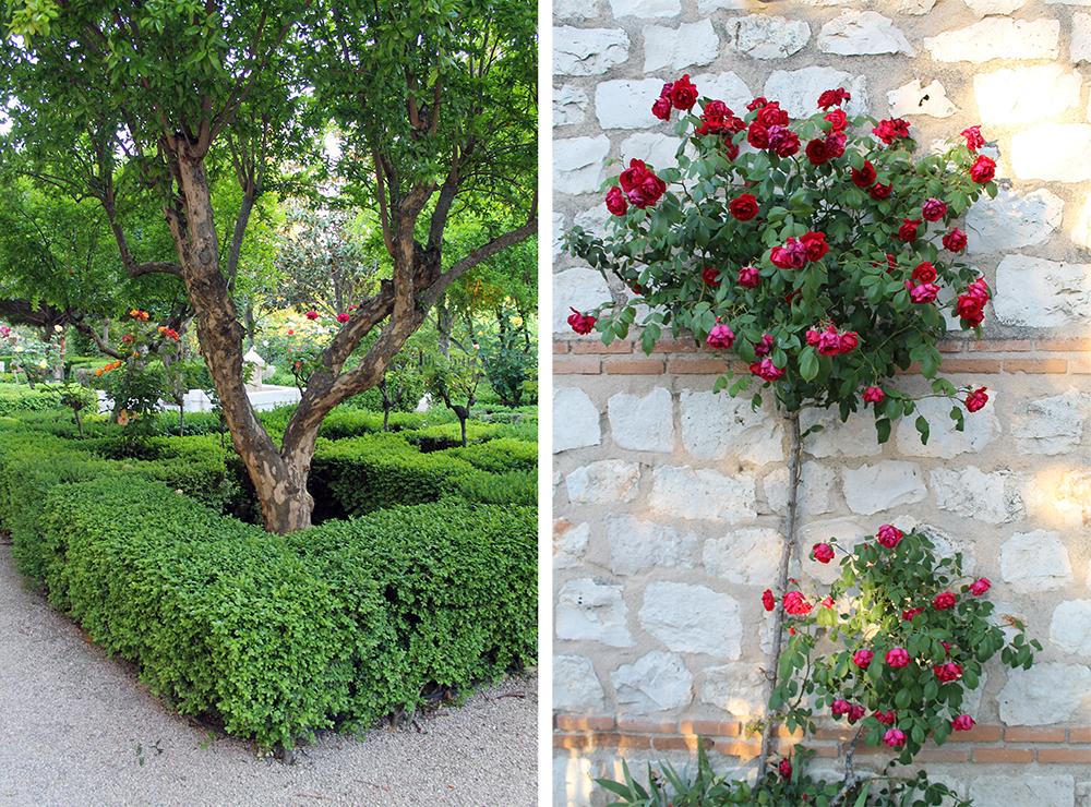 PARADOREN I CHINCHON: Paradoren har en helt fantastisk hage med flotte trær og vakre planter overalt. Foto: Tenk Koffert