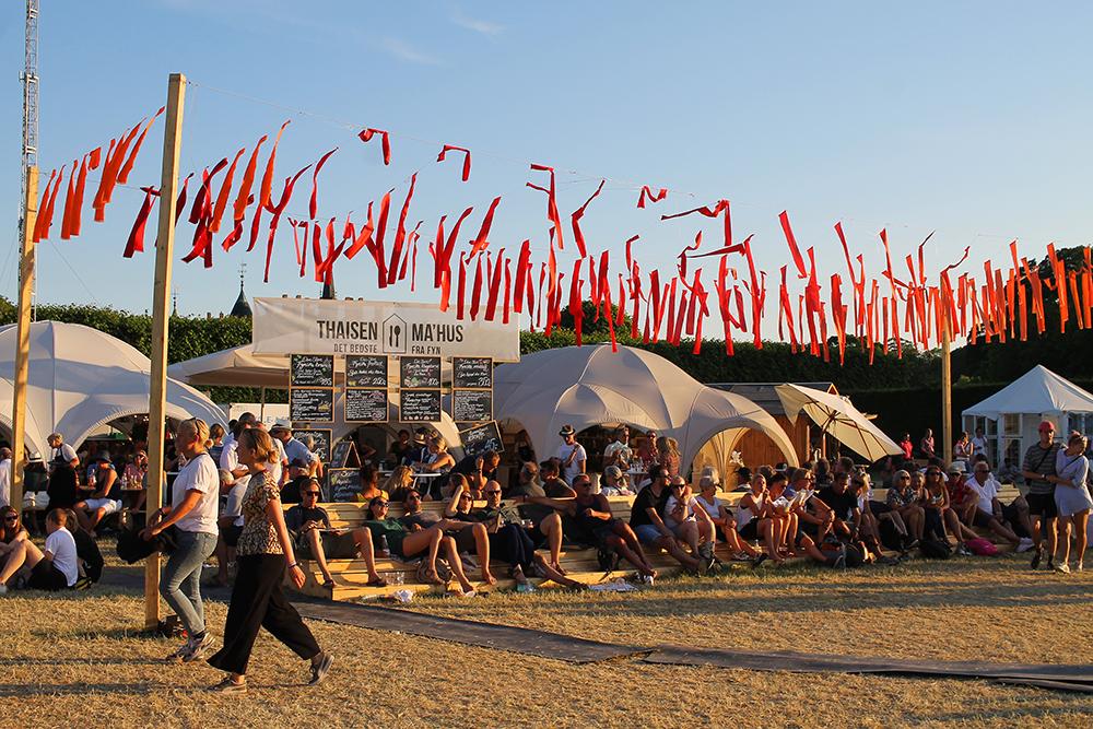 HEARTLAND FESTIVAL: Mye folk, men føles ikke overfylt. Foto: Tenk Koffert