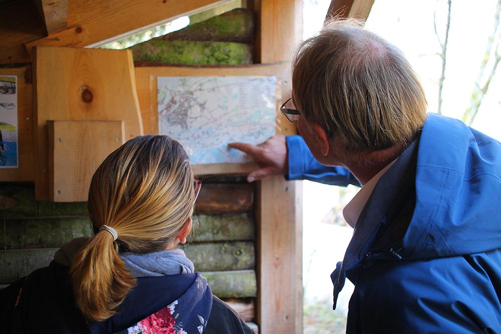 KART OVER RUTEN: Pilegrimsvandring i Levanger.. Foto: Tenk Koffert