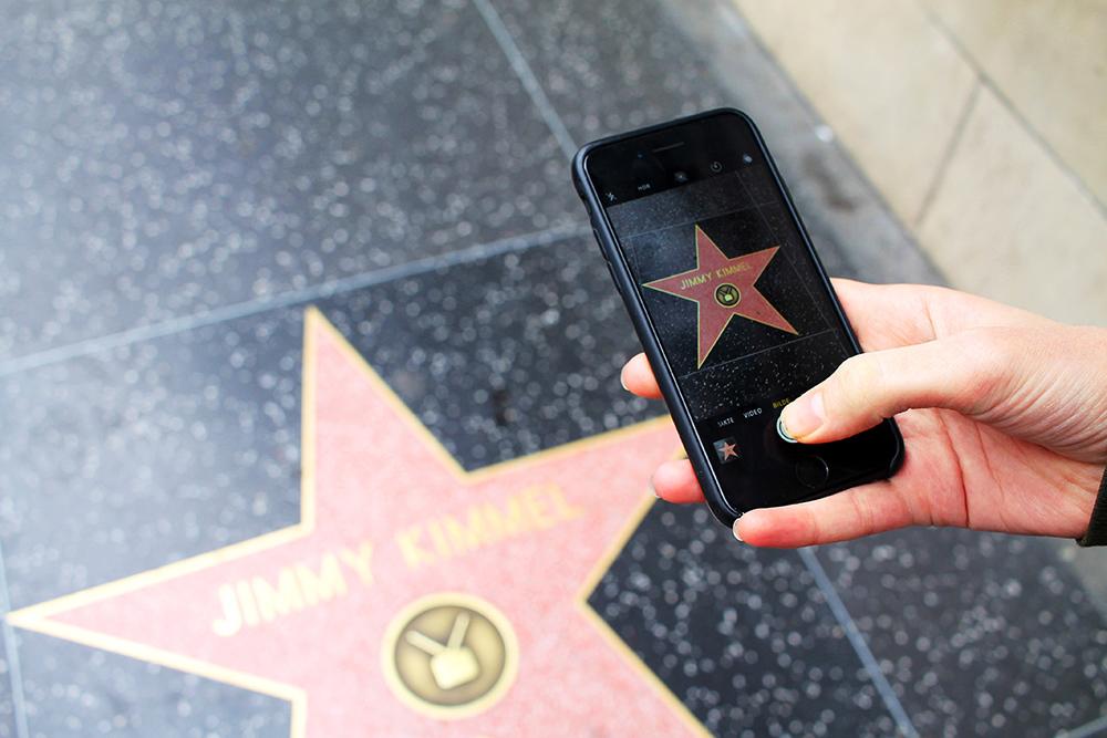 WHEN IN HOLLYWOOD: Når du er i filmbyen må du selvsagt se Walk of Fame! Gøy og gratis! Foto: Hedda Bjerén