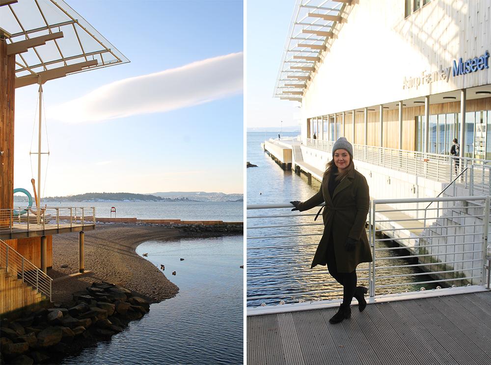 ASTRUP FEARNLEY. Museet ligger idyllisk til, helt på enden av Tjuvholmen. Foto: Tenk Koffert