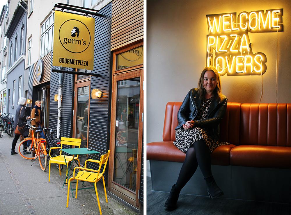 TENK KOFFERT I AARHUS: Fant en sitteplass det sto navnet mitt på. 🍕 Det var inne på  Gorm's pizza, som du kan lese mer om her . Foto: Tjodunn fra  Smaken av Oslo.