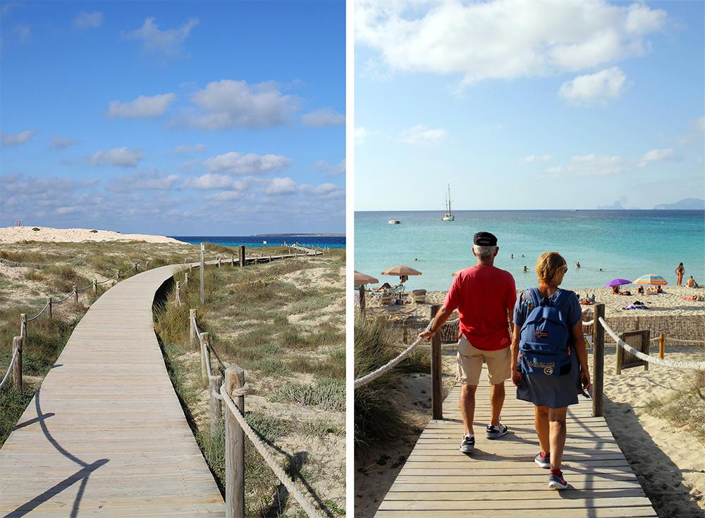 PLANKEVEI: Mange steder på øya er det bygget praktisk vei du kan gå på, fra strand til strand. Foto: Tenk Koffert