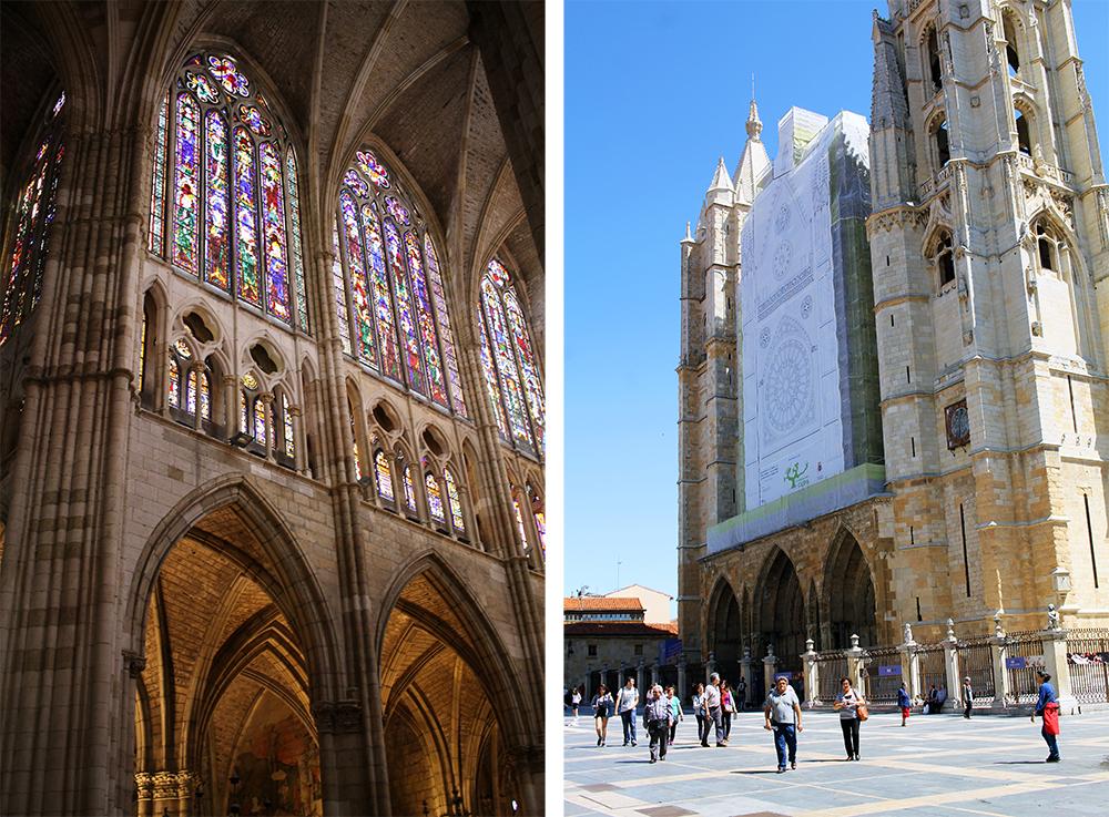 BLENDENDE VAKKERT: Et fotografi yter ikke disse vindusmaleriene rettferdighet. Reis til León og opplev dem selv. Foto: Tenk Koffert