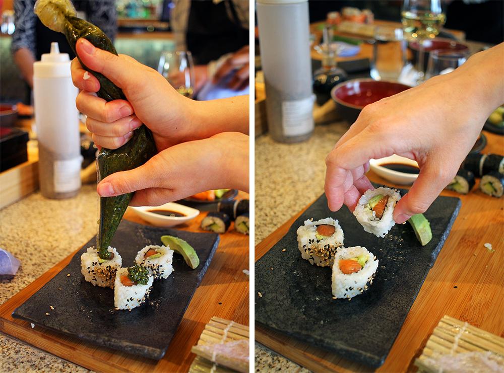 GOD SUSHI: Jeg fikk smake, nam, nam, nam! Foto: Hedda Bjerén