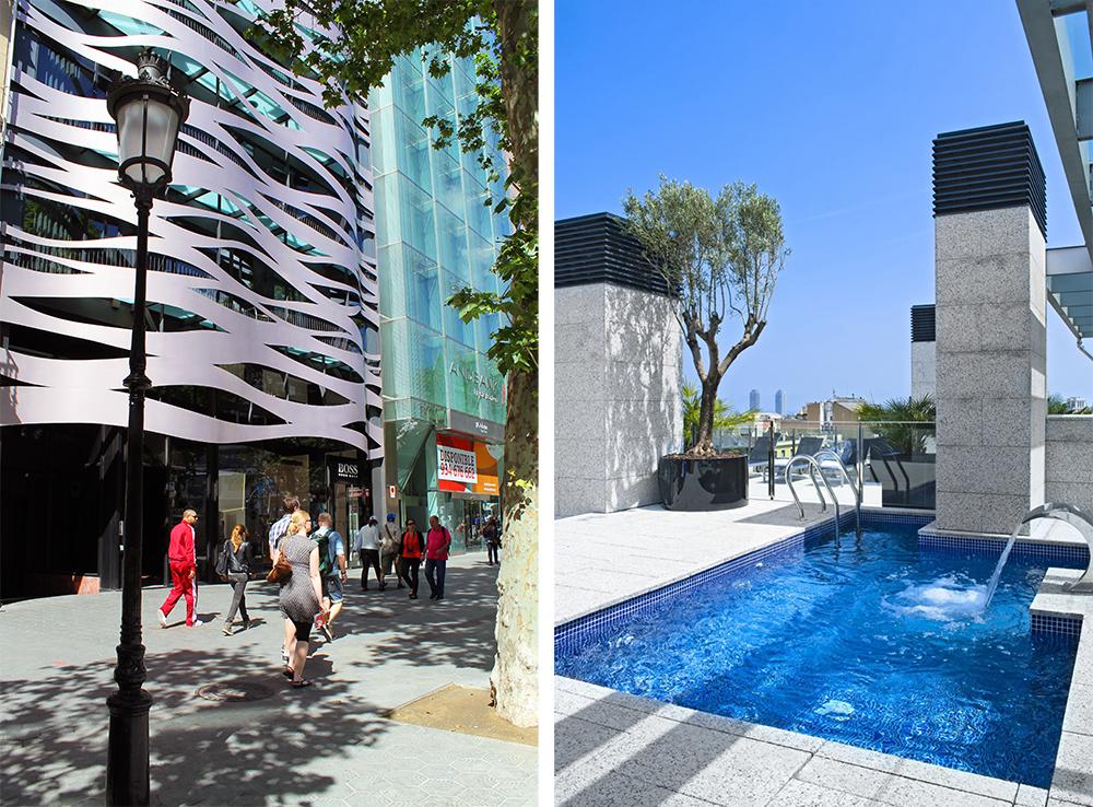 SUITES AVENUE: På takterrassen til dette hotellet er det et lite basseng. Perfekt for en morgendukkert. Foto: Tenk Koffert