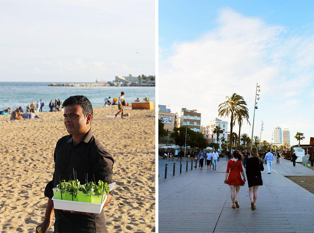 FORFRISKNINGER: Denne karen selger drinker på stranda. Praktisk for venninner på tur! Foto: Tenk Koffert