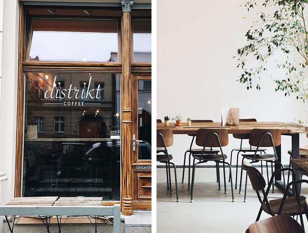 DISTRIKT COFFE: Berlin har mange fine lunsjkafeer med gode priser - dette er et av dem! Foto: Tenk Koffert
