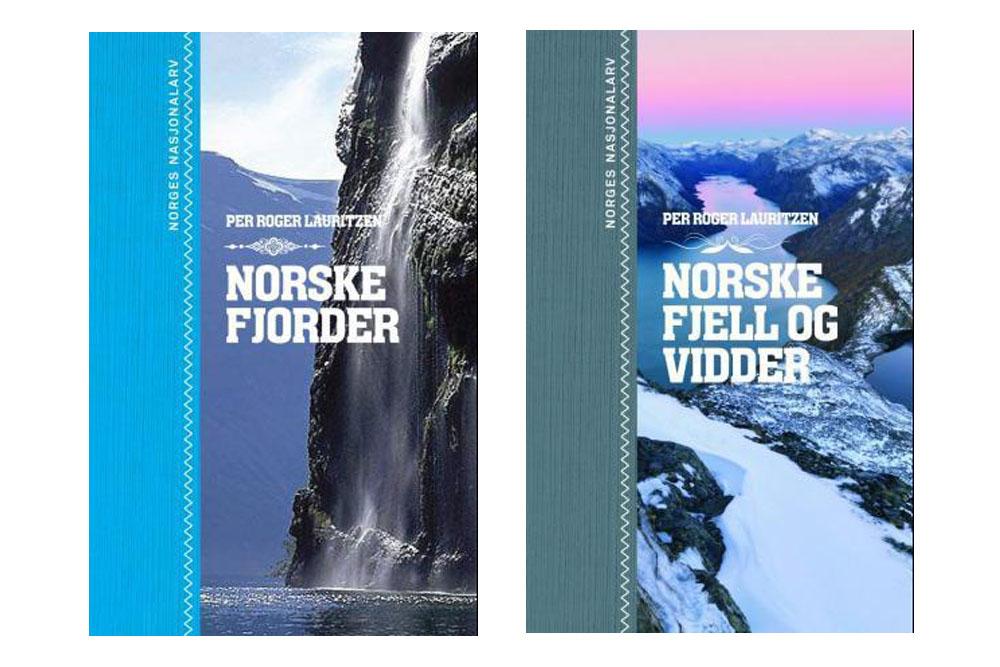 BØKER OM NORGE: I disse fine, illustrerte bøkene tas du med på oppdagelsesferd gjennom Norges fantastiske natur. Foto: Font forlag