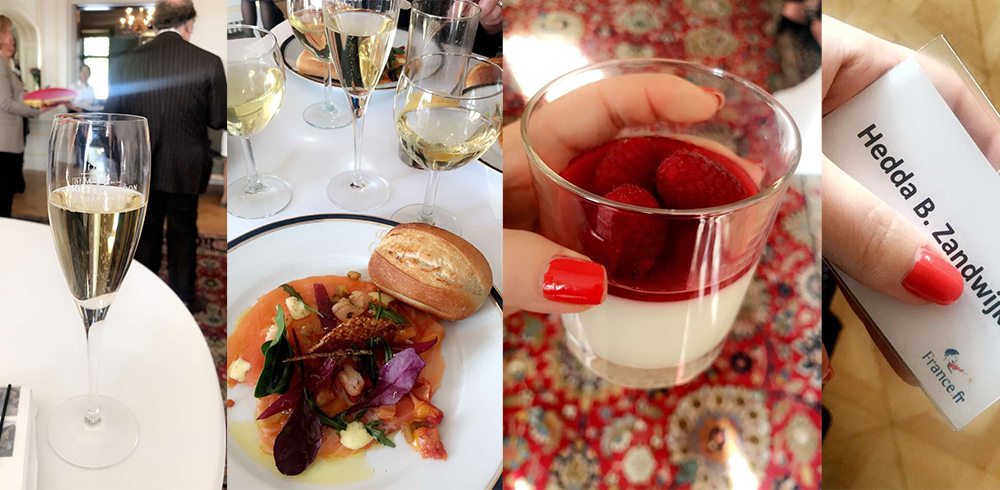 MARS: Jeg var invitert på en deilig lunsj og et interessant foredrag hos Den Franske Ambasade i Oslo. Hyggelig! Foto: Tenk Koffert
