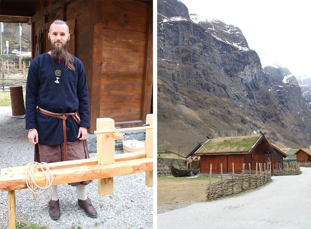 VIKING: Landsbyen er full av hyggelige vikinger du kan slå av en prat med. Foto: Reisebloggen Tenk Koffert