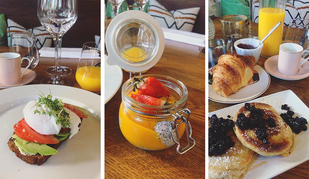 Dette er bare litt av all den herlige maten som ble servert meg på restaurant Miss Sophie i Oslo. Foto: Tenk Koffert