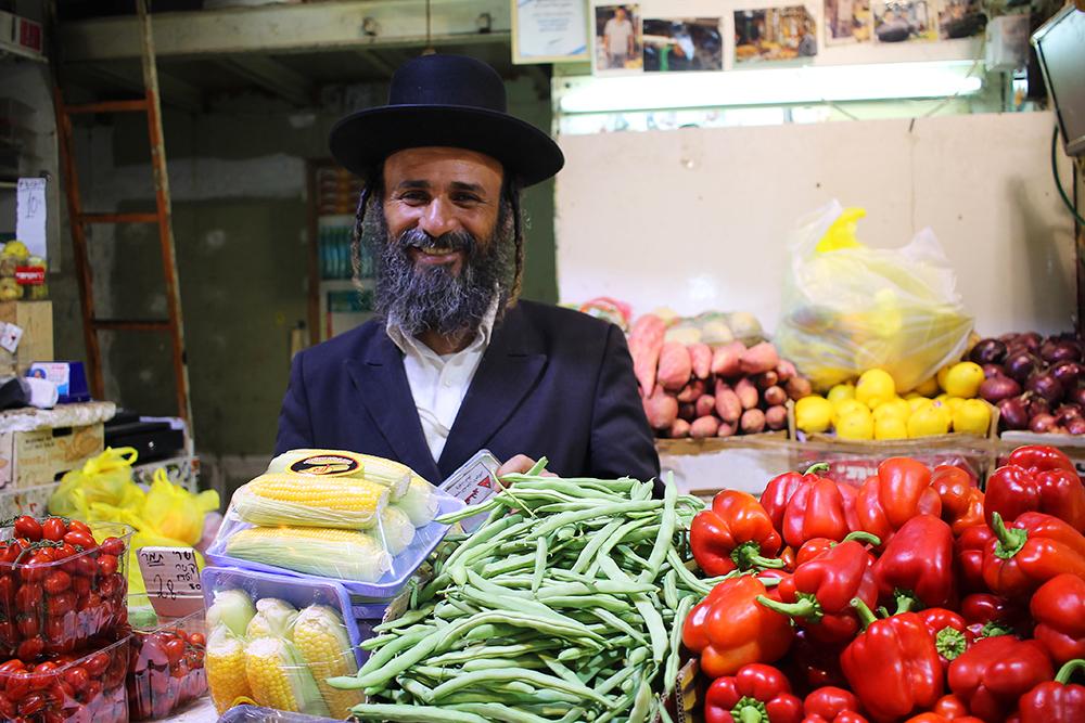 NOVEMBER: Denne blide herren møtte jeg på Machne Yehuda-markedet i Jerusalem. Foto: Tenk Koffert
