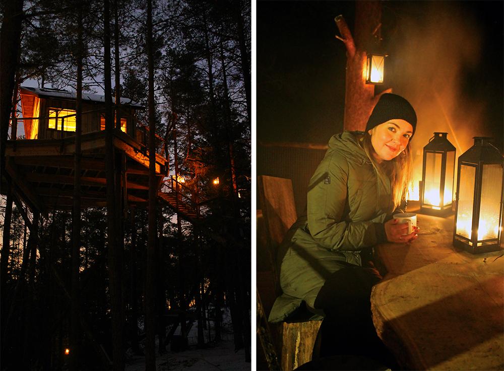INNEKLEMT DAG: Ta en langhelt i tretopphytte!  Her kan du lese om Tretopphytter på Grense n, som ligger i Østfold. Foto: Tenk koffert