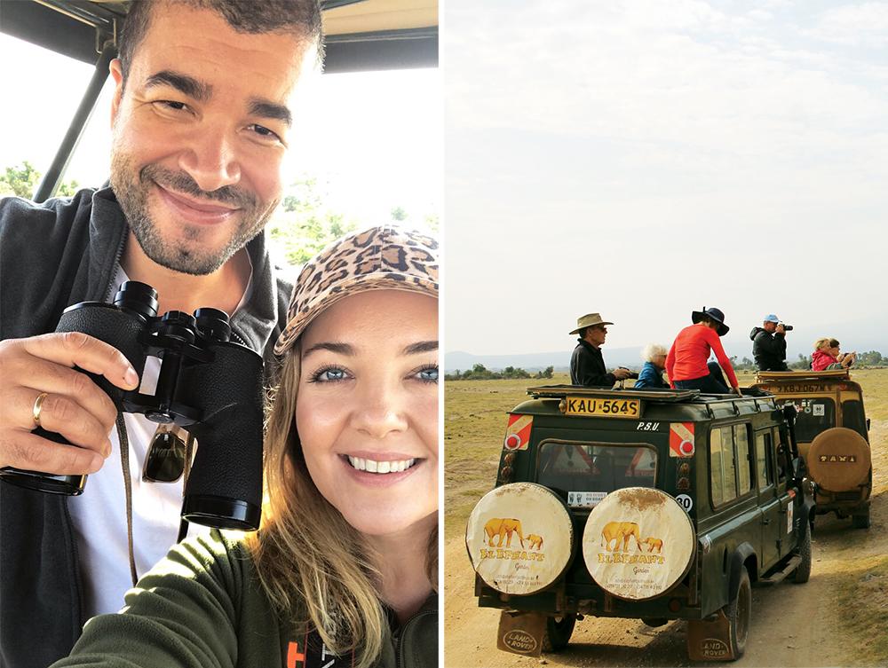 SAFARI I KENYA: Vi synes det var stor stas å være på safari! Foto: Tenk Koffert