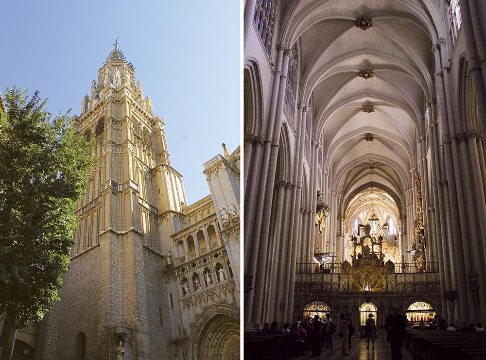 KATEDRALEN I TOLEDO: Katedralen i Toledo er den fineste jeg noen gang har sett. Den er så svær, at det er vanskelig å få tatt bilder som viser det. Og inne i katedralen er det så mye gull og kunst at det er helt vanvittig. Foto: Tenk Koffert