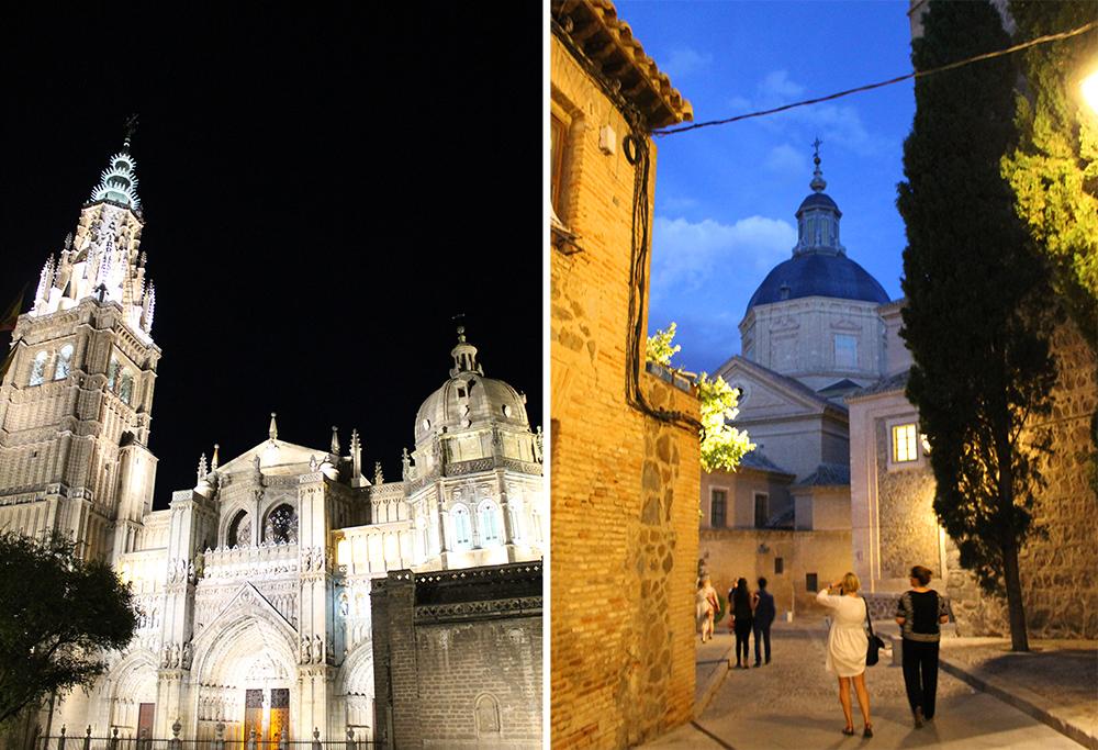 TOLEDO BY NIGHT: Byen er ikke mindre vakker på natten. Foto: Tenk Koffert