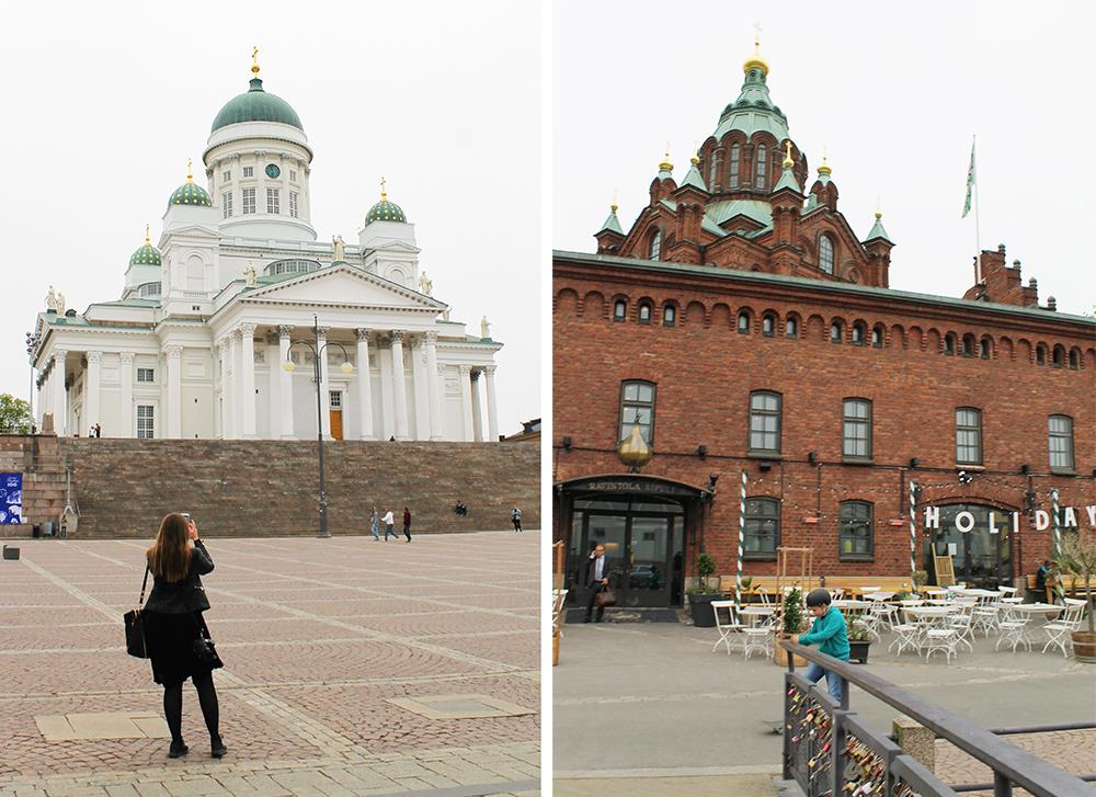 WEEKENDTUR TIL HELSINKI: Pass på å få med deg den allsidige arkitekturen Helsinki har å by på! Kvinnen til venstre er forresten  Mette fra Reiselykke,  hun var en av dem jeg reiste på denne turen med. Sjekk ut bloggen hennes! 😊 Foto: Tenk Koffert