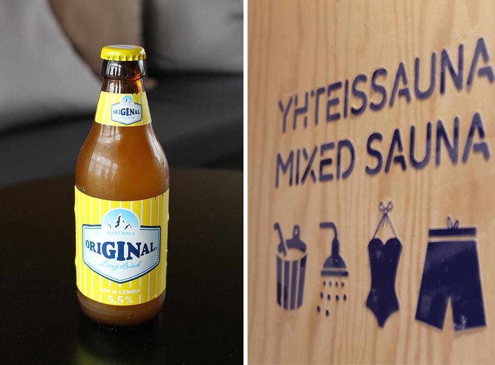 LONKERO: Denne drikken er typisk finsk, og er en ferdigblandet long drink av gin og grapefrukt. Perfekt forfriskning i saunaen! Foto: Tenk Koffert