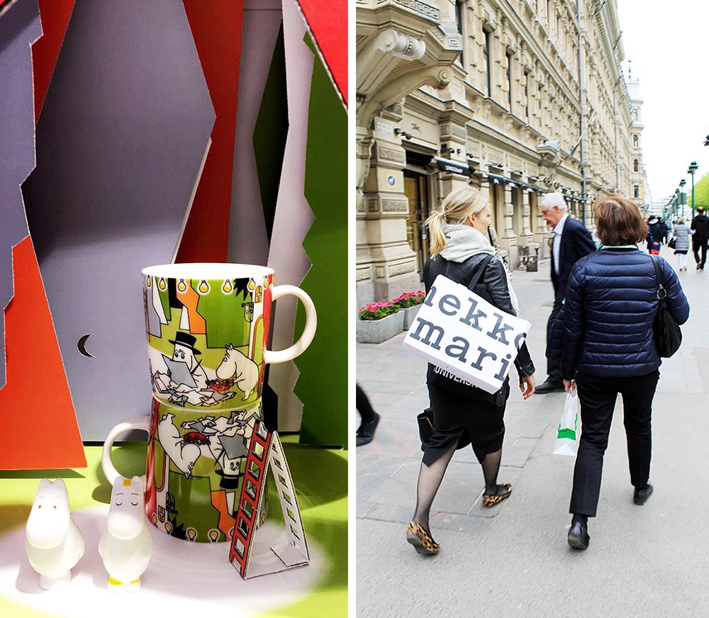 FINSK DESIGN I HELSINKI: Finnene er glade i og stolte av sitt design. Og det med rette! Den finsksvenske forfatteren og kunstneren Tove Jansson står bak de kjente og kjære figurene fra Mummidalen.Foto: Tenk Koffert