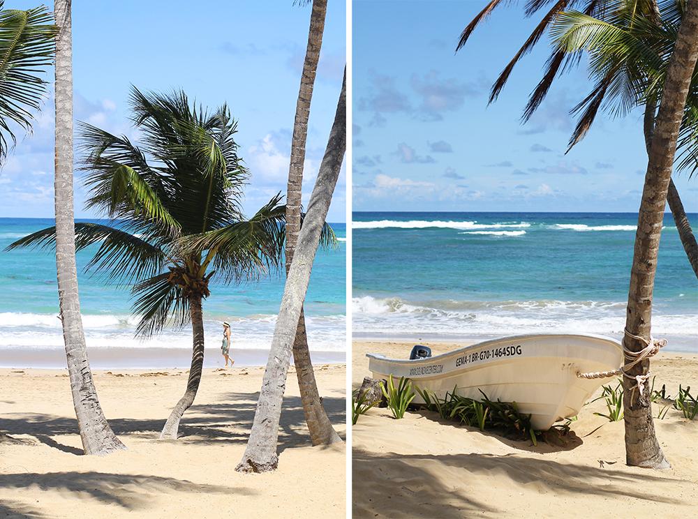 HOTEL SIVORY PUNTA CANA I DEN DOMINIKANSKE REPUBLIKK: Du tror kanskje at jeg ryddet stranden fri for turister før jeg tok bildet? Åh, nei da, det er faktisk så god plass på stranden her! Disse bildene tok jeg på mitt favoritthotell i Den dominikanske republikk;  Sivory Punta Cana . Foto: Tenk Koffert