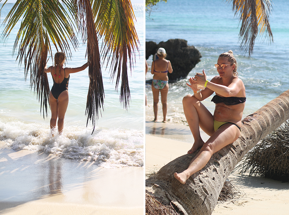 INSTAVENNLIG STRAND PÅ DEN DOMINIKANSKE REPUBLIKK: På øya Cayo Levantado er det en palme hvor det samler seg en masse instababes rundt for å ta bilder. Foto: Tenk Koffert