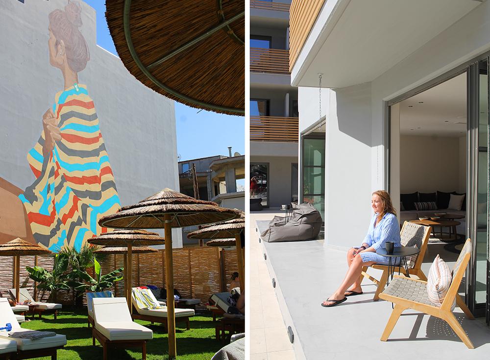 COOK'S CLUB HERSONISSOS: Hotellet har saccosekker og lenestoler i tillegg til vanlige solsenger, en egen DJ, og til og med et Escape Room! Foto: Tenk Koffert