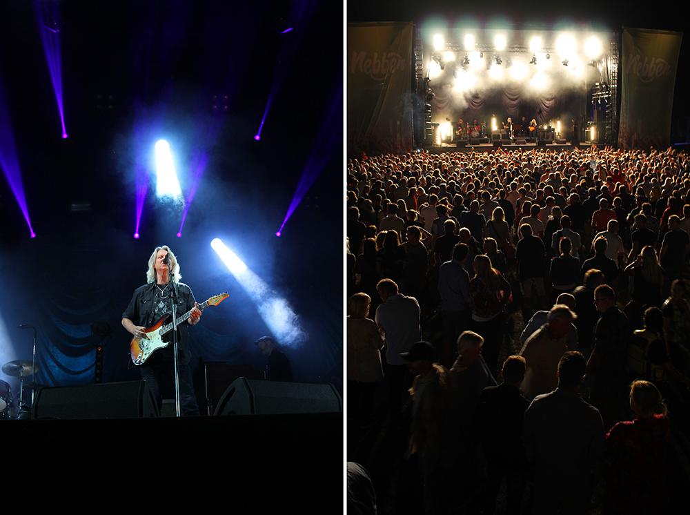 """HELLBILLIES PÅ NEBBEN: Hellbillies var siste band på scenen, og det var mange tårevåte festivalgjester da """"Den finaste eg veit"""" ble framført. Foto: Tenk Koffert"""