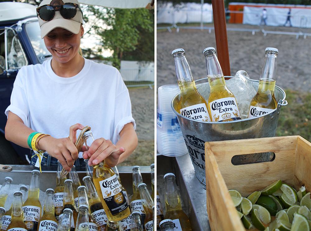 NEBBENFESTIVALEN: På festivalområdet er det satt ut flere forskjellige barer. Dette er Corona-baren. Foto: Tenk Koffert