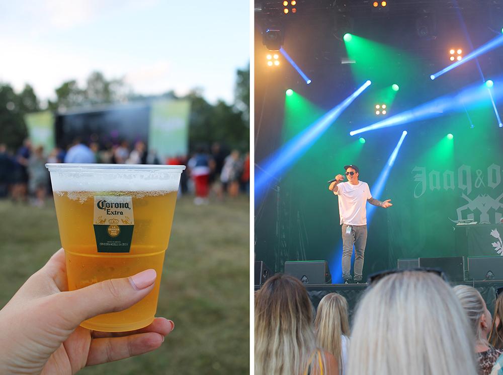 NEBBENFEST: Øl og OnklP, knallkombinasjon! Foto: Tenk Koffert