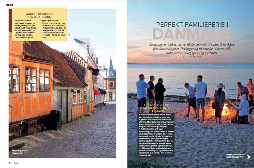 KAMILLE 2019: Faksimile fra det første oppslaget av min reisereportasje i bladet Kamille, som sto på trykk våren 2019. Foto: Faksimile