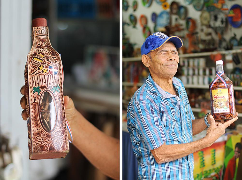 """MAMAJUANA: Drikken som kalles """"mamajuana"""" selges overalt i Den dominikanske repulikk. Den er laget med blant annet rom, rødvin, bark og honning og den skal kurere ALT, enten du sliter med forkjølelse eller potensen. 😄 Jeg måtte selvsagt smake, og det minnet faktisk om gløgg med sprit i. Foto: Tenk Koffert"""