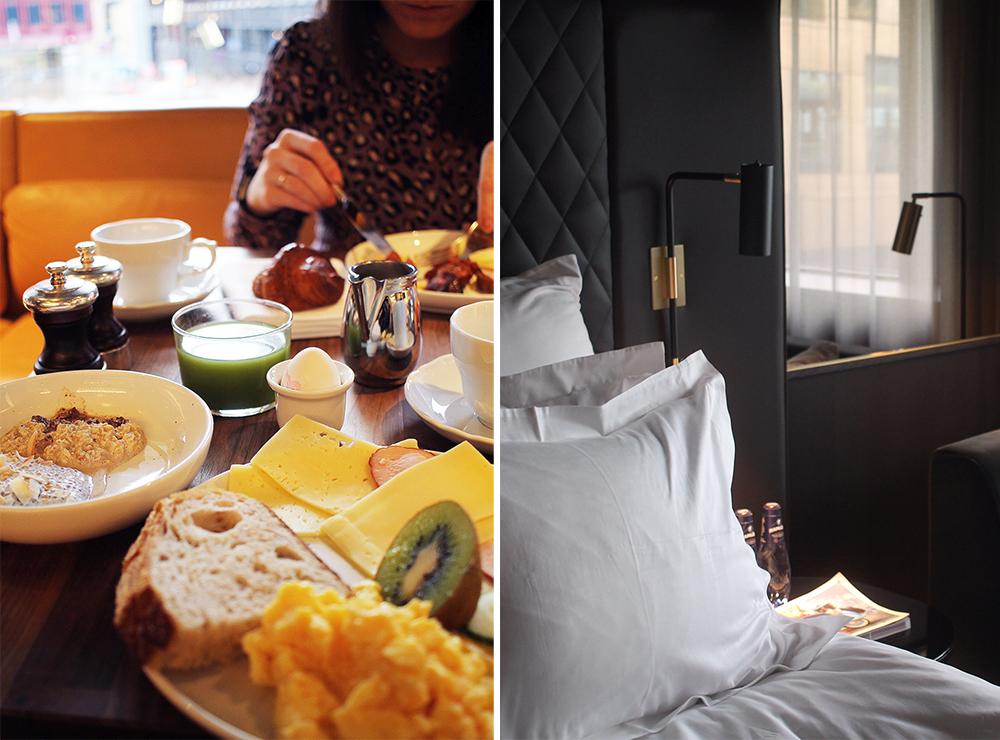 AT SIX I STOCKHOLM: Sist jeg var i Stockholm bodde jeg på hotell At Six. Frokosten og rommet var helt upåklagelig. Kommer til å velge dette hotellet igjen. Foto: Tenk Koffert