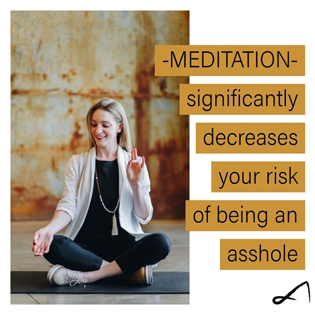 """Careful, if you don't know """"that guy,"""" you may be """"that guy."""" We believe meditation has a place in the workplace! Double tap if you agree.  .  . . Credit to our friends @the.sattva.life for this #truthbomb .#officeyoga #wellness #wellworkplace #healthyliving #yoga #corporateyoga #corporatewellness #wellnessprograms  #destress #HR #worklife"""