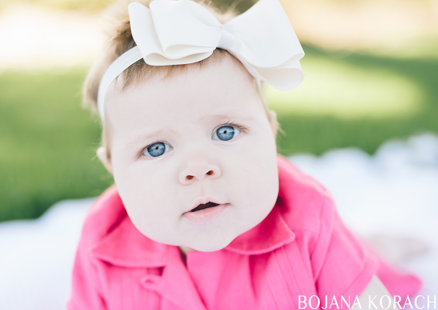 baby with beautiful blue eyes